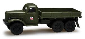 Herpa-H0-1-87-Roco-Minitanks-743815-ZIL-157-mit-Flachpritsche-CA-DDR