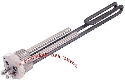 "Lifestyle spa /& hot tub Heater ELEMENT 1¼/"" NPT threaded  240V 6kW or 120V 1.5kW"