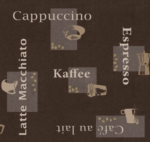 Toile Cirée largeur 140 cm dcfix Espresso Marron Longueur whl nappe BVL