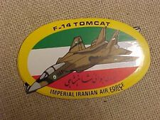 ORIGINAL VINTAGE GRUMMAN F-14 TOMCAT IRANIAN AIR FORCE STICKER / DECAL