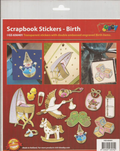 Etiquetas engomadas Scrapbooking-el nacimiento 906-6401