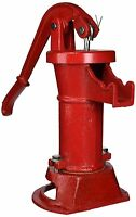 Lead Free Well Water Pump Durable Red Iron Old Fashion Adjustable Handle Garden
