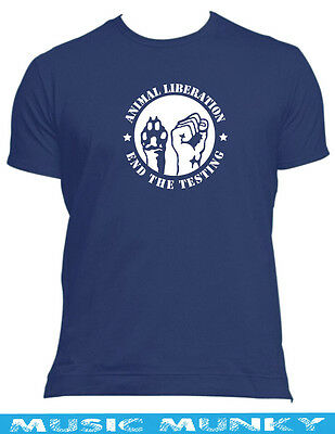 animal liberation new t-shirt all sizes,colours vegetarian protest vegan rights