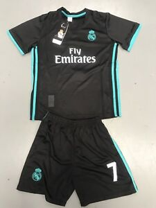save off 02f45 8d21c Details about Christiano Ronaldo Soccer Club Jerseys Set Black Color