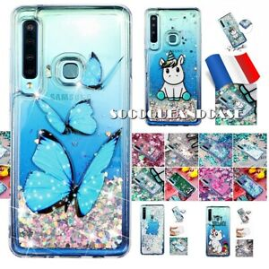 Etui-housse-3D-Paillettes-Dynamique-Powder-Case-Samsung-Galaxy-A7-amp-A9-2018-Film