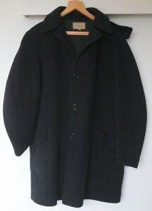 HonnêTeté Vintage Mcgregor Sportswear Laine Manteau 38 Noir Avec Rouge Doublure Comme Donkey Coat L-afficher Le Titre D'origine Blanc Pur Et Translucide