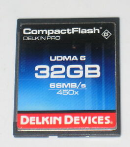 Delkin Devices 32GB CompactFlash Memory Card Pro 450x UDMA 6