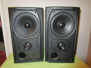 Pair-Of-Mission-Book-Shelf-Speakers-Made-In-England-2-Way-Reflex
