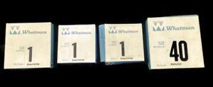 Lot-Of-4-Various-Whatman-Filtrer-Paper-Boxes-9cm-11cm-12-5cm