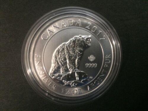 2017 Canada $8 1.5oz 1 1//2oz Canadian Grizzly Bear Fine Silver Bullion coin