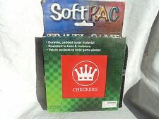 D & D Soft Pac Checkers Travel Game
