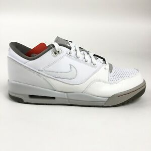 Nike-Air-Assault-White-Gray-Shoes-Mens-Size-13-Retro-316421-112