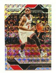 2016-17-Panini-Prizm-Dwyane-Wade-SILVER-Mosaic-Prizm-Card-Heat