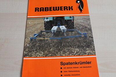 Manuals & Literature Rabewerk Spatenkrümler Prospekt 01/1982 Delicious 144181