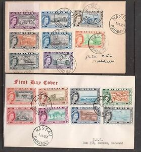 Bahamas #158 - #173 Very Fine Used Set On Rare First Day Covers