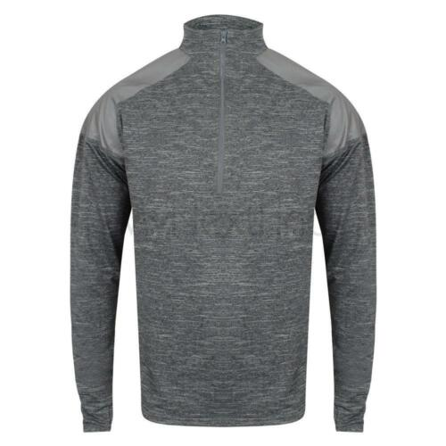 Tombo Sports Activewear 1//4 Zip Top With Reflective Panels