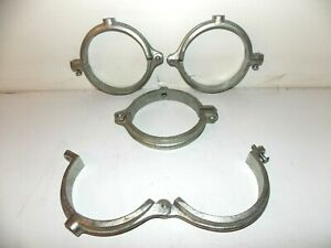 Details about Lot of 4 Large Galvanized split ring 4 5