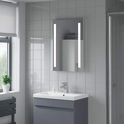 Bathroom Mirror LED Illuminated Rectangular IP44 Rated Battery Powered 500x700mm