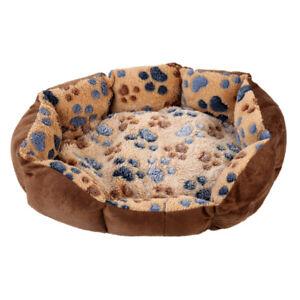 Haustier-Hund-Katze-weiches-Bett-komfortabel-Welpen-Pluesch-Haus-Nest-schla-OS