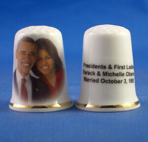 FINE-PORCELAIN-CHINA-THIMBLE-BARACK-AND-MICHELLE-OBAMA-MARRIED-1992