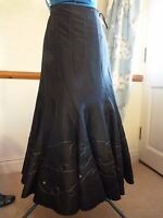 Without Tags Per Una Size 14l Dark Brown Very Long Skirt
