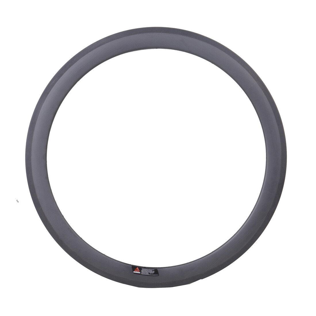 Road Bike Racing Rim 700C  23mm width 50mm depth Carbon Tubular Basalt 3K Matt  best-selling