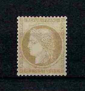 FRANCE-STAMP-YVERT-59-SCOTT-56-034-CERES-15c-BISTER-1871-034-MNH-VF-SIGNED-V299