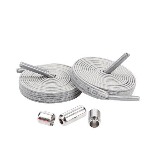Elastische Schnürsenkel Flach 7mm mit Schnellverschluss elastisch ohne Binden
