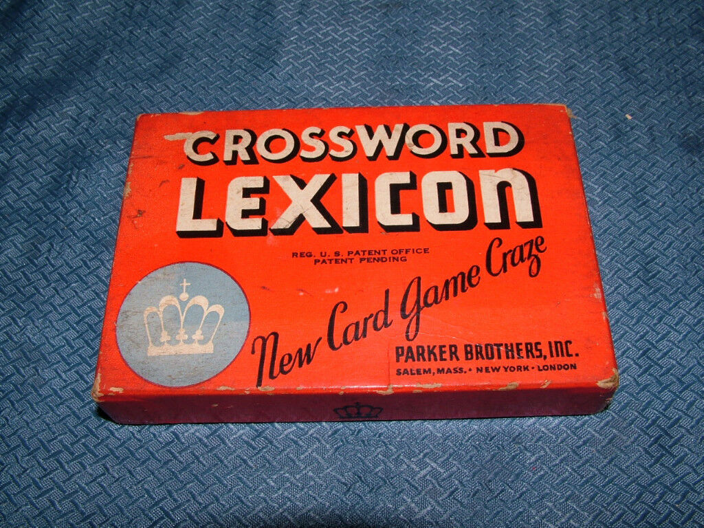 VINTAGE 1938 PARKER BROS CROSSWORD LEXICON CARD GAME