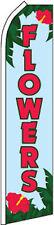 """FLOWERS"" super flag swooper banner advertising sign florist"