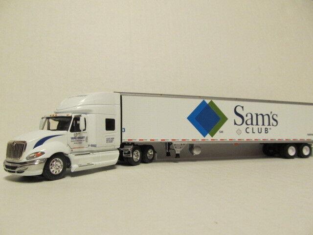DCP 1 64 Escala Internacional Prostar (Wal-Mart) con remolque refrigerada (Sam's Club)