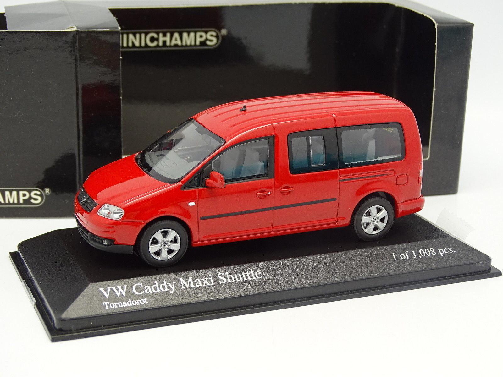 Minichamps 1 43 - vw caddy maxi Shuttle Red