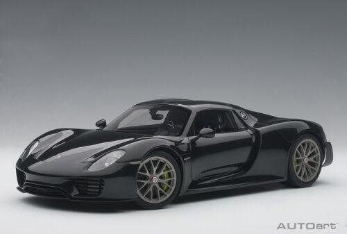Autoart 77928 - 1/18 Porsche 918 Spyder Weissach Package - Metallic Black - Neu
