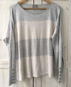 MINT-VELVET-HYGGE-UK-14-Oversized-Cashmere-Blend-Grey-Blush-Jumper-Sweater-Top