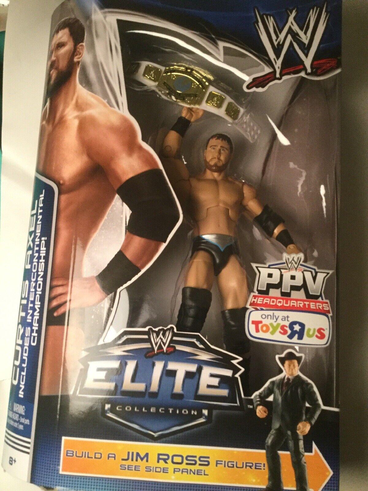 Curtis Axel WWE Elite retribución construir un Jim Ross Baf TRU exclusivo Mattel 2014