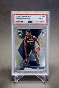 2019-20-Panini-Mosaic-Zion-Williamson-209-PSA-10-Rookie