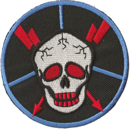 Ecusson transfert patche Skull patch DIY hotfix thermocollant