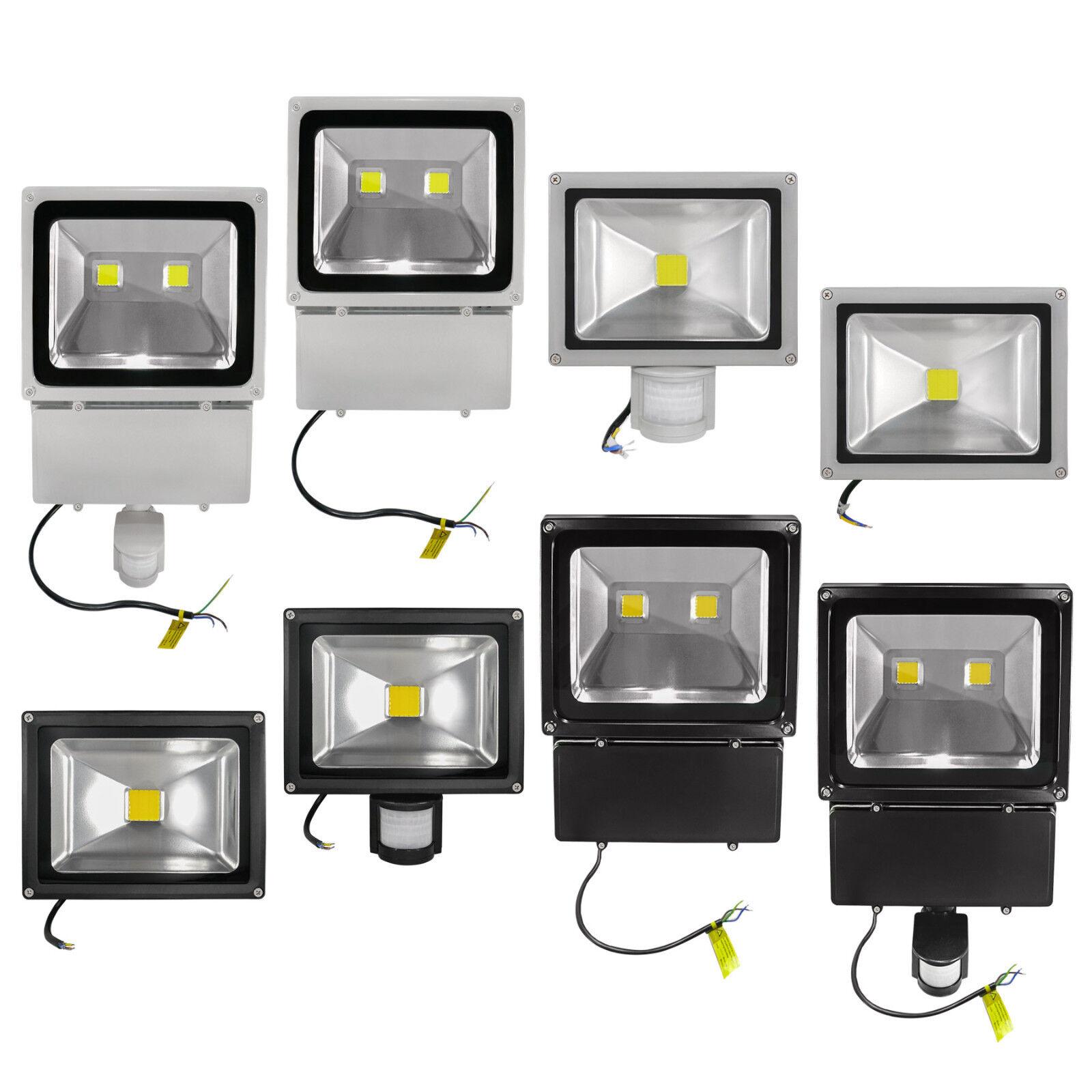 LED Außenfluter COB LED Fluter 20 30 50 100 Watt 180° Bewegungsmelder