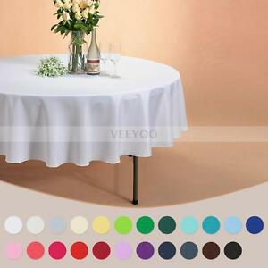 """US 90"""" Round Seamless Tablecloth For Hotel Restaurant Wedding Banquet Party New"""