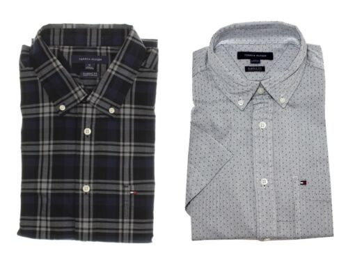 Tommy Hilfiger Men/'s Classic Fit Short Sleeve Button Down Woven Casual Shirt