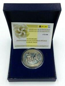 Medalla-Moneda-Conmemorativa-Plata-ISFAS-Militar-Exclusiva-Espana-Escasa-Limitad