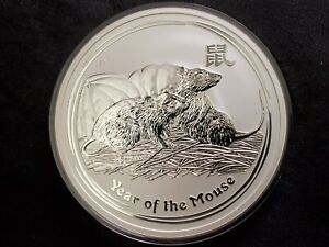 2008-P-5-oz-Silver-Australia-Lunar-Year-of-the-Mouse-8-Coin