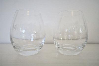 Collectable Item Mishka Vodka Tumbler Glasses Set of 2