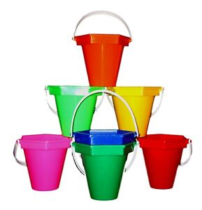Image Is Loading 2 Small Sand Beach Buckets 6 Options Made