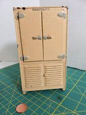 "Vintage ARCADE Cast Iron Frigidaire Refrigerator Dollhouse Miniature Toy 6.5"""