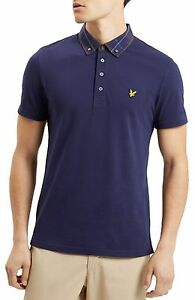 Lyle /& Scott Casual Short Sleeve Cotton Polo Shirt Smart Side Stripe White