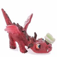 Miniature Red Dragon Playing With Butterfly 4528 Fairy Garden
