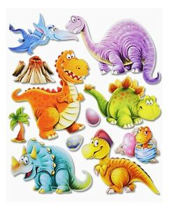 3d wandsticker wandtattoo s e dinos dinosaurier t rex usw f r kinderzimmer 501 ebay. Black Bedroom Furniture Sets. Home Design Ideas