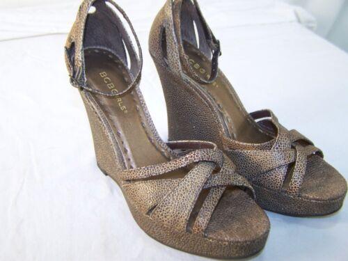 Brown Womens alla Bcbgirls 8 Toe caviglia Zeppe Scarpe B 8b Size cinturino Open wn7FSnqat