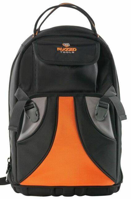 Rugged Tools Tradesman Tool Backpack 28 Pocket Heavy Duty Jobsite Tool Bag /& a